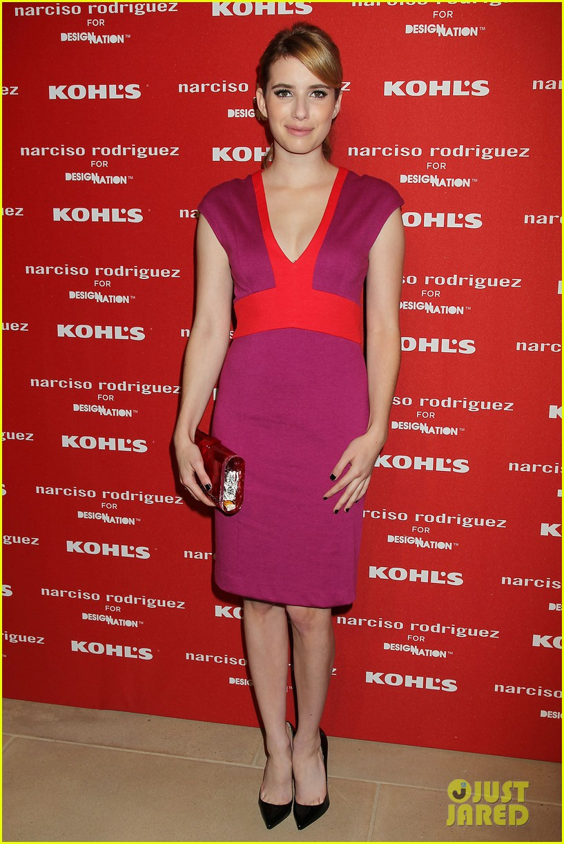 katie holmes emma roberts narciso rodriguez kohls launch party 12