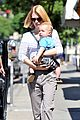 january jones window shopping with baby xander 11