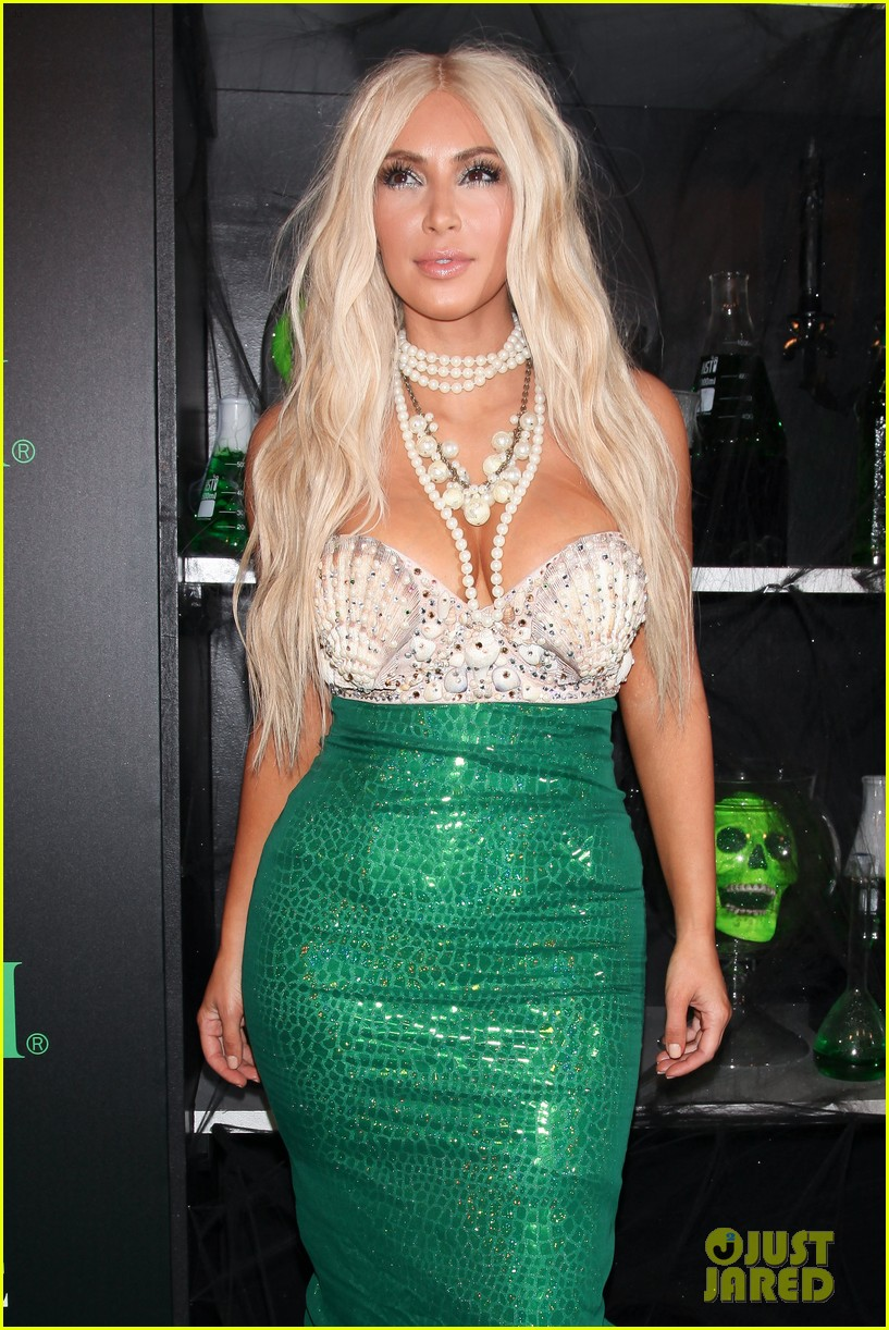 kim kardashian kanye west mermaid sailor for halloween 23