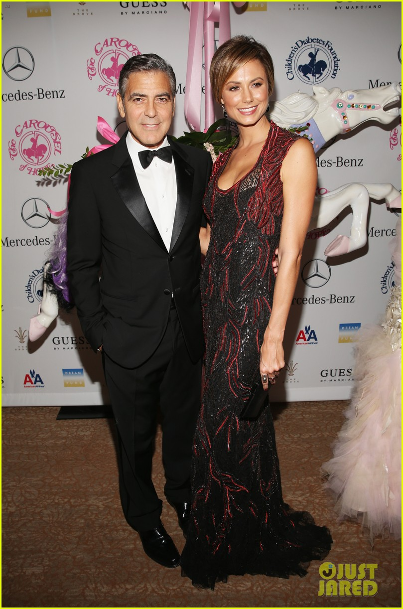 george clooney carousel of hope with stacy keibler 02