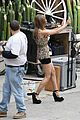 annalynne mccord camera phone fun on 90210 set 11