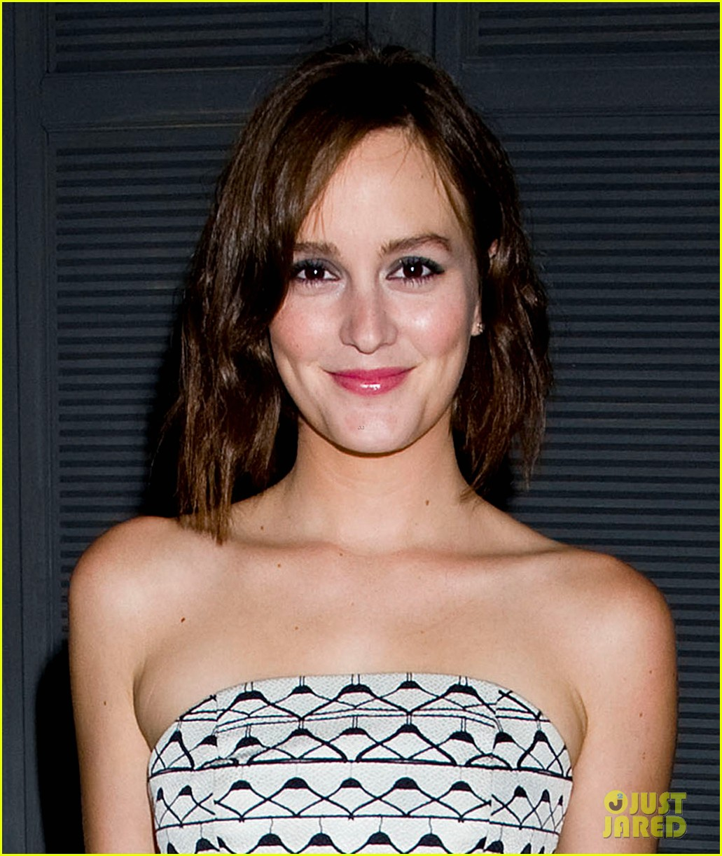 leighton meester short hair for flaunt dinner 042745286