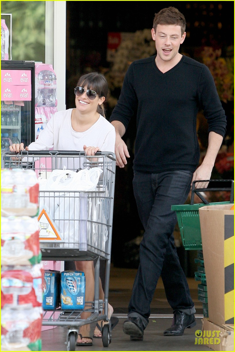lea michele cory monteith football sunday cooking 032742244