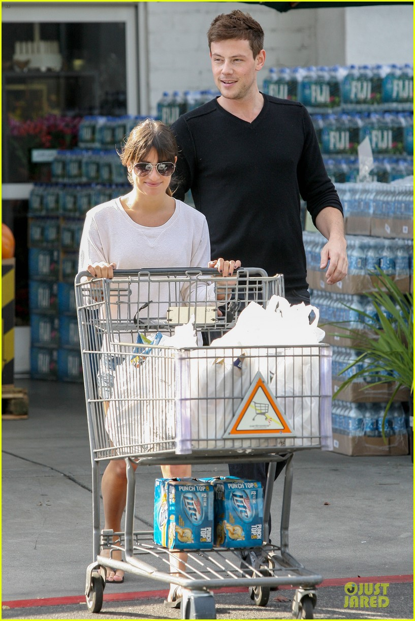 lea michele cory monteith football sunday cooking 11