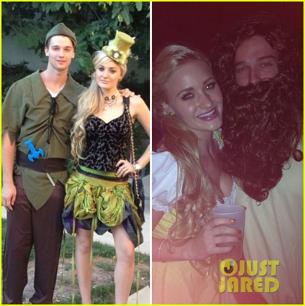 patrick schwarzenegger halloween parties with aj michalka 03