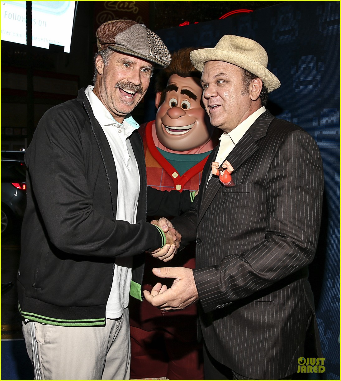 sarah silverman john c reilly wreck it ralph premiere 14