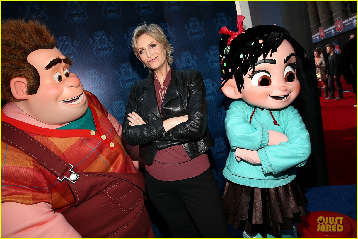 sarah silverman john c reilly wreck it ralph premiere 18