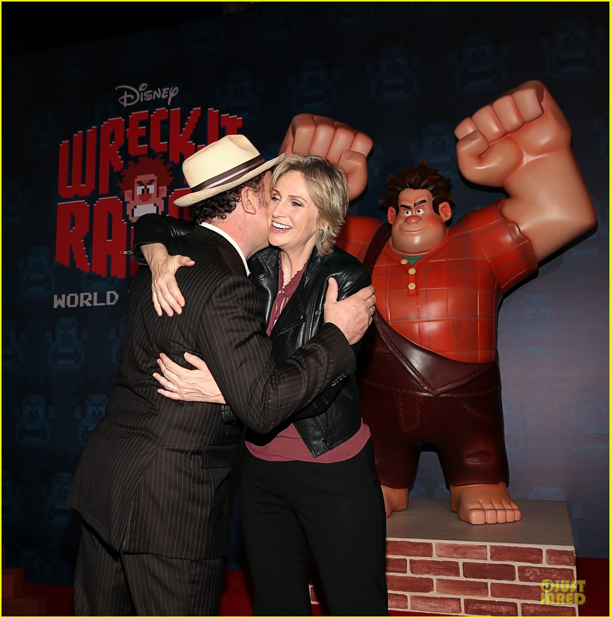 sarah silverman john c reilly wreck it ralph premiere 25