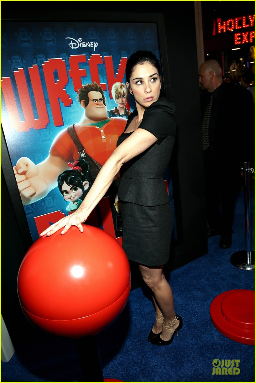 sarah silverman john c reilly wreck it ralph premiere 28