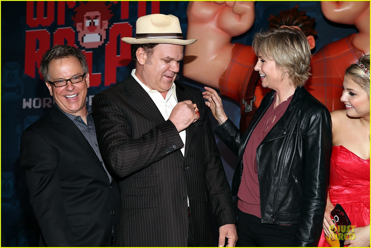 sarah silverman john c reilly wreck it ralph premiere 302748252