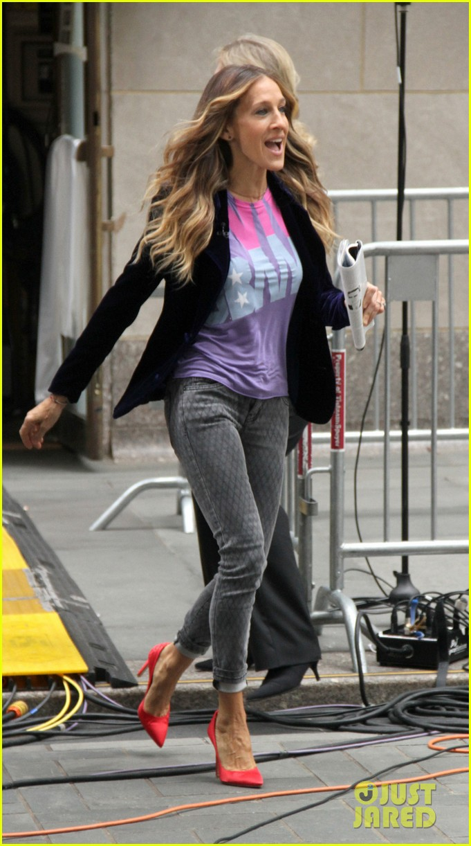 sarah jessica parker supports president obama on access hollywood 032744958