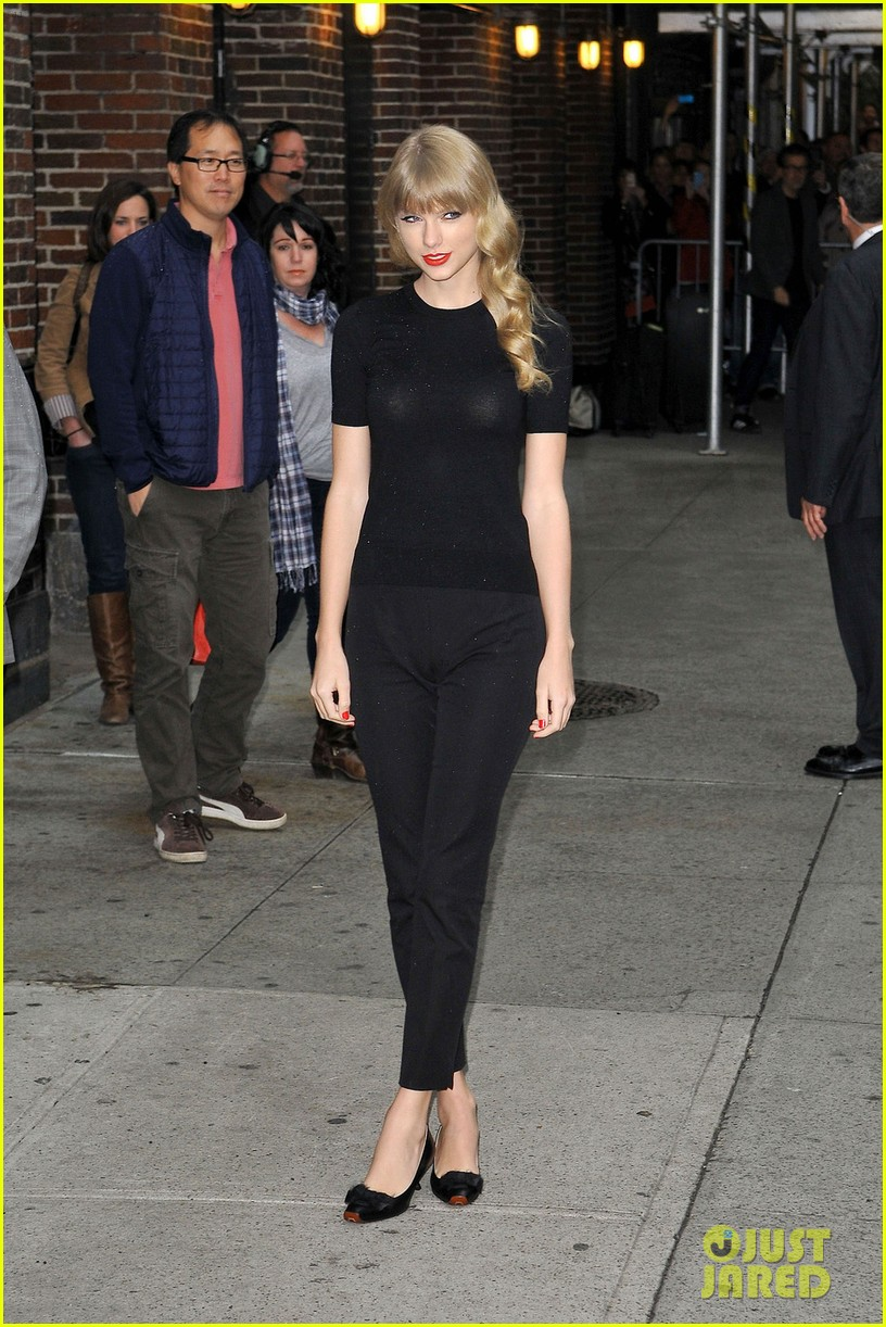 taylor swift late show with david letterman guest 03
