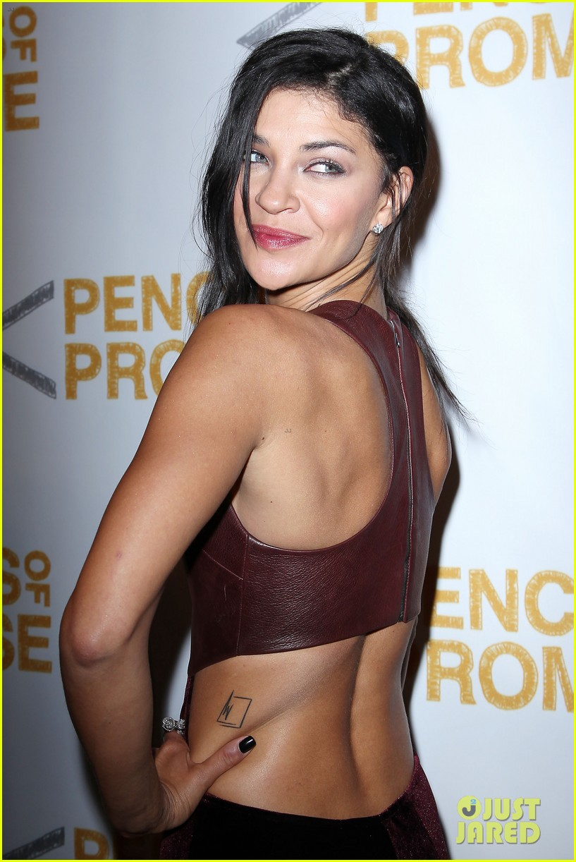usher jessica szohr pencils for promise gala 14