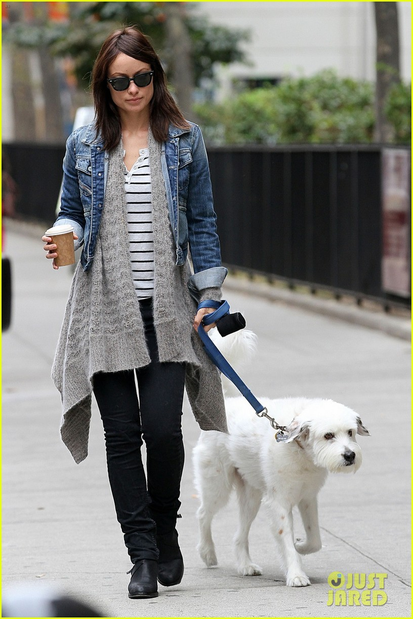olivia wilde new york stroll with paco 052737500