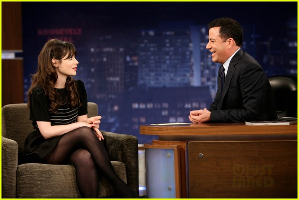 zooey deschanel jimmy kimmel live appearance 062731877