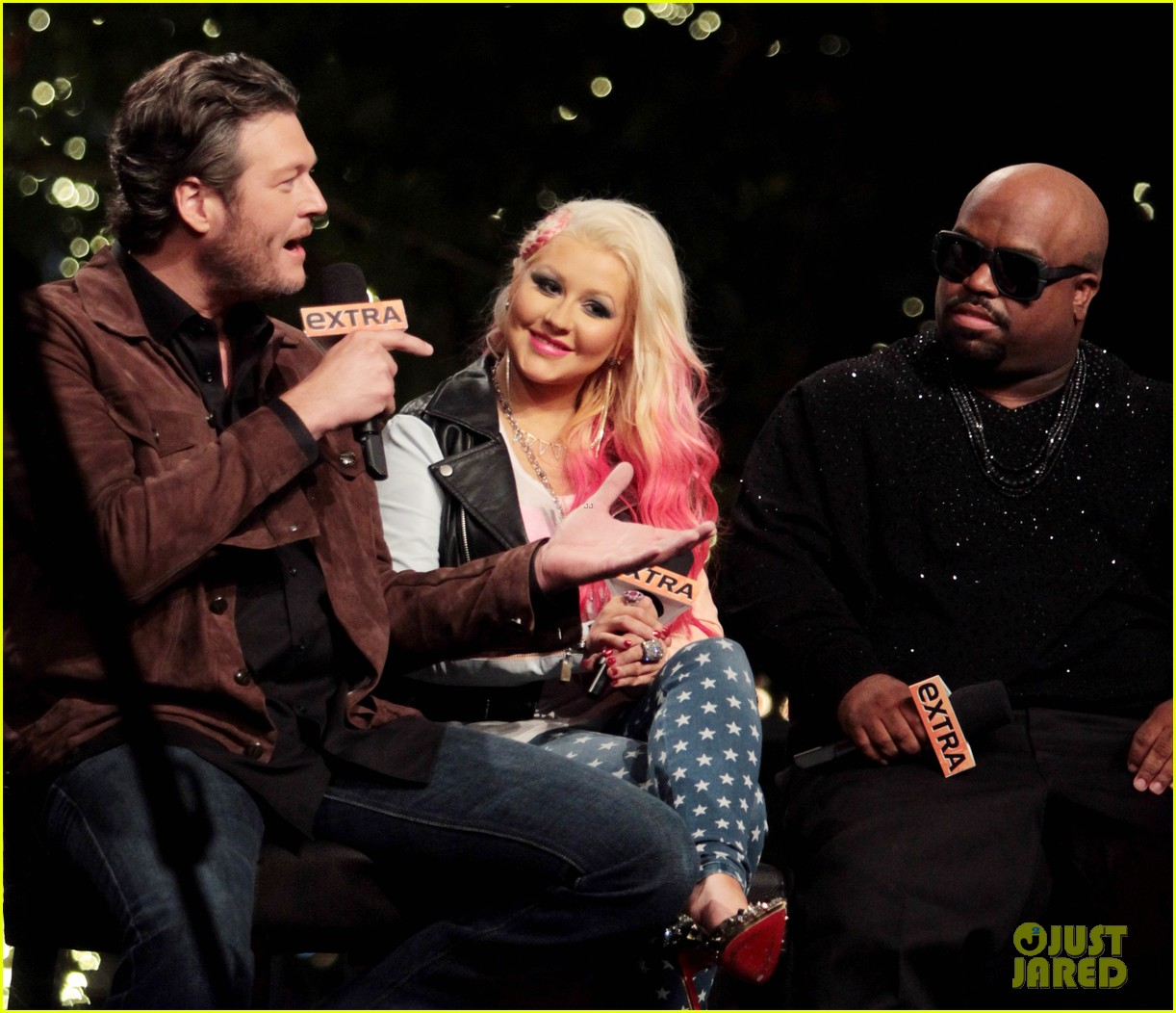 christina aguilera the voice at the grove 03
