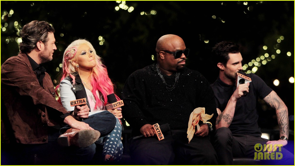 christina aguilera the voice at the grove 06