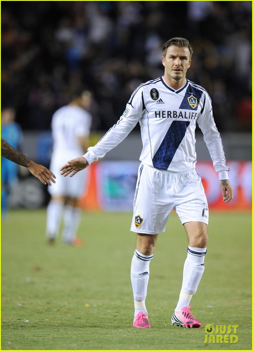 david beckham boys cheer him on at galaxy soccer game 012755890