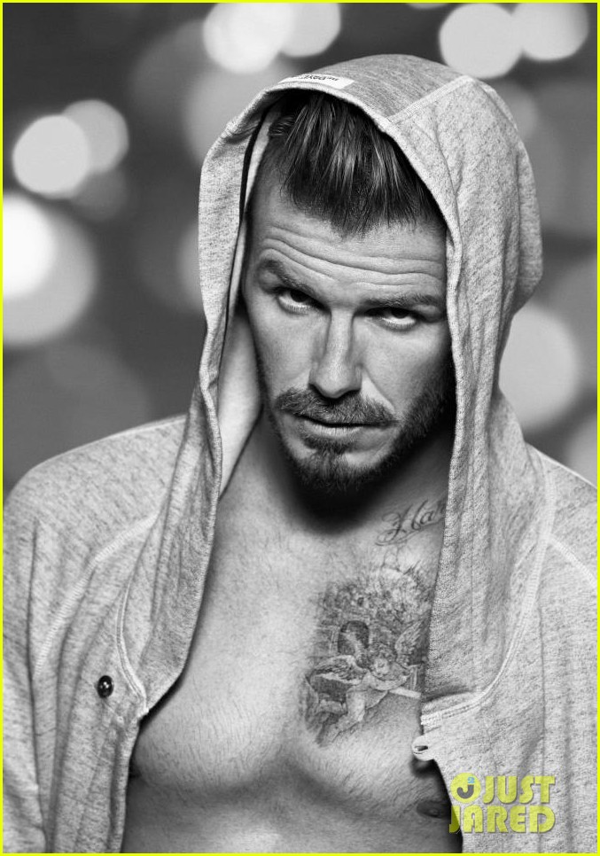 david beckham shirtless h m holiday promo shots 02