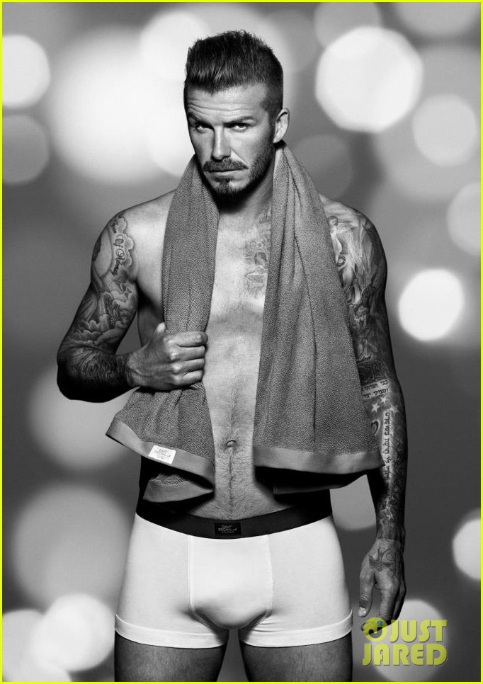 david beckham shirtless h m holiday promo shots 03