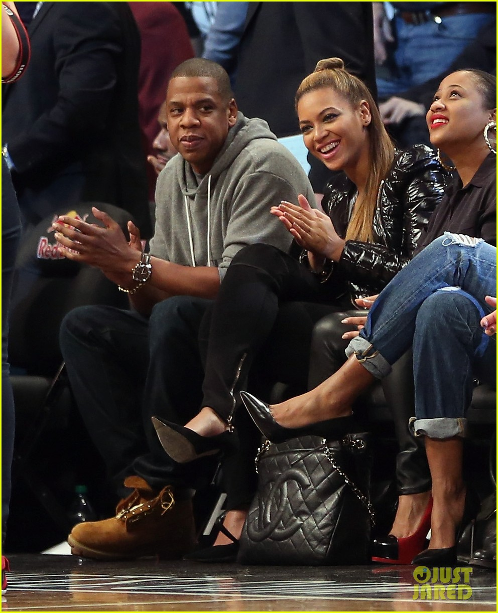 beyonce post thanksgiving nets game with jay z 02
