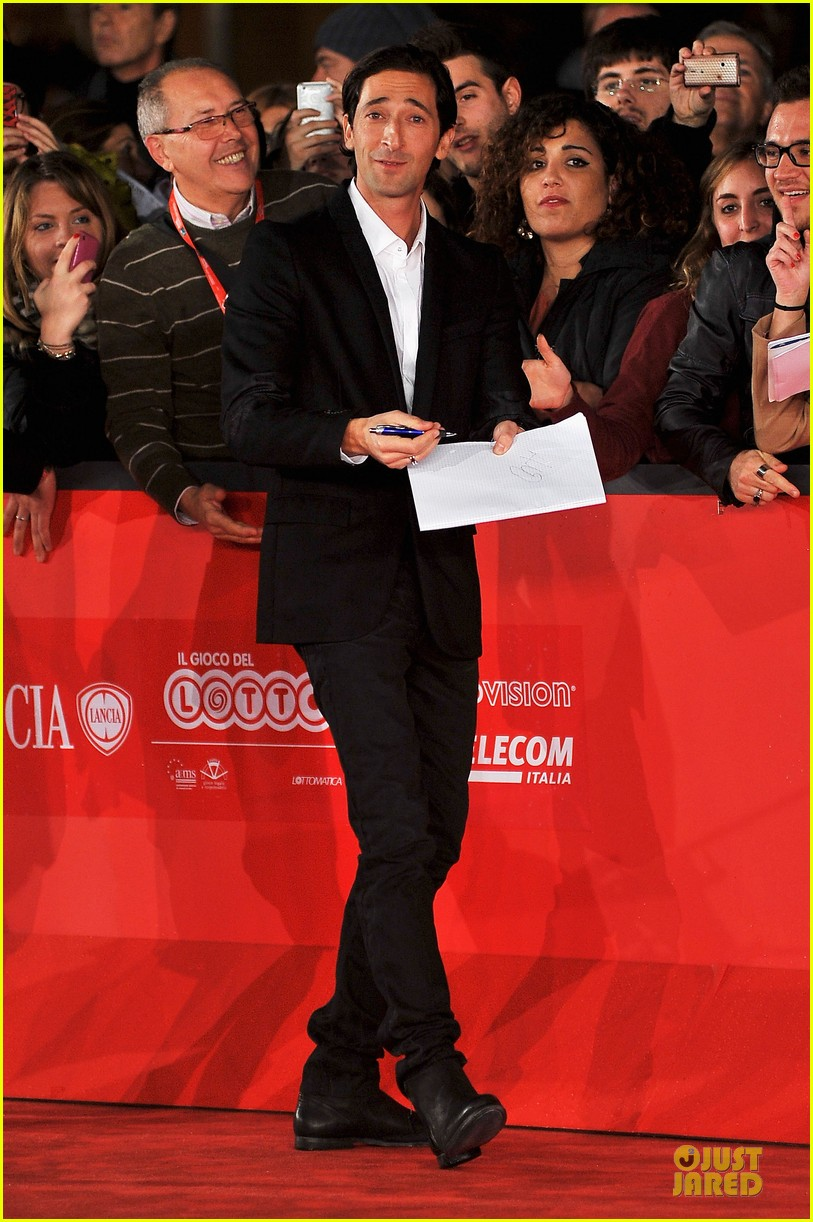 adrien brody lara lieto back to 1942 rome film festival premiere 05