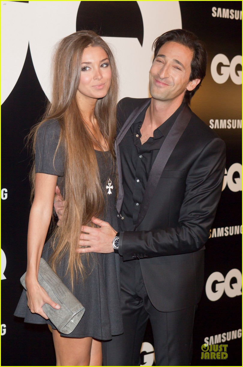 adrien brody lara lieto gq awards in madrid 06