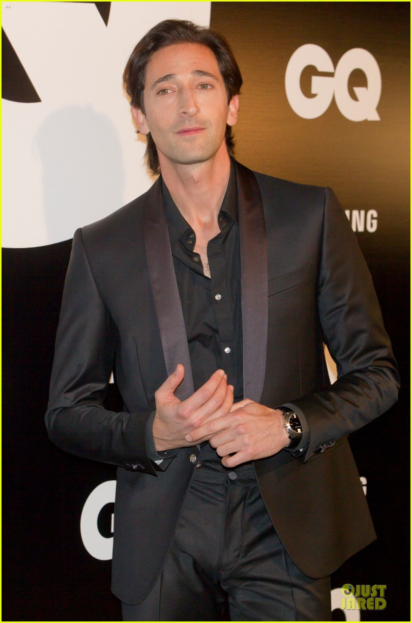 adrien brody lara lieto gq awards in madrid 072761189