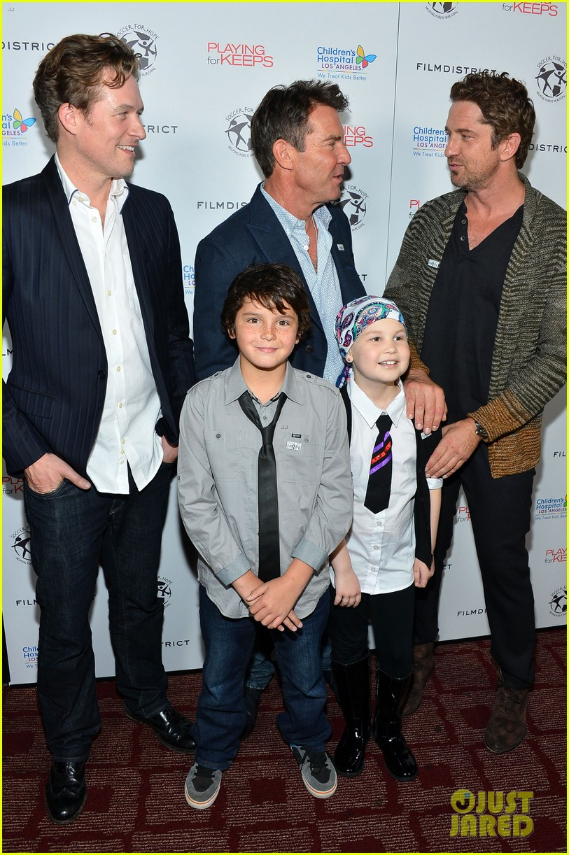 gerard butler playing for keeps childrens hospital screening 212765902