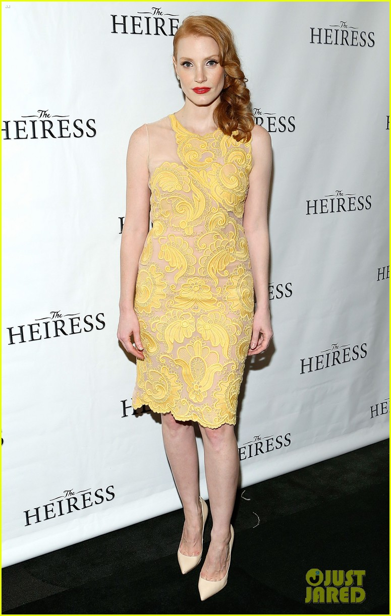 jessica chastain dan stevens heiress opening night 02