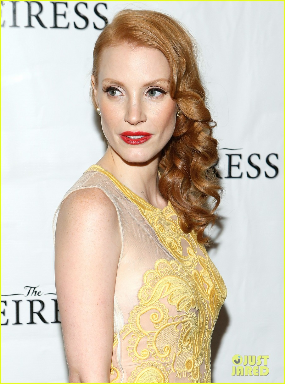 jessica chastain dan stevens heiress opening night 08