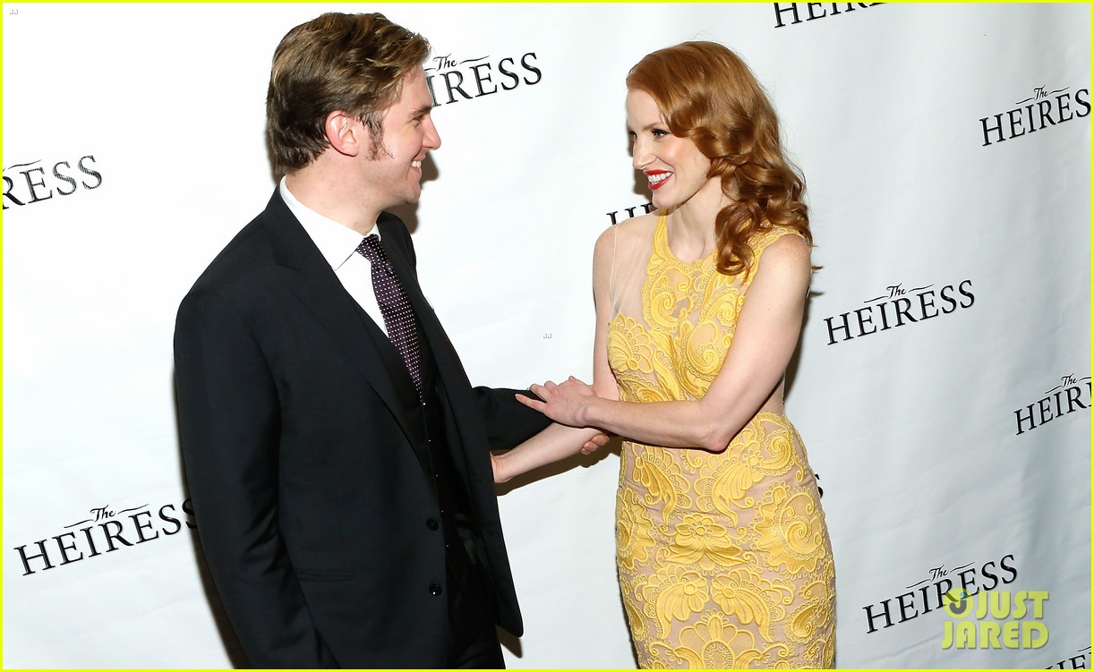 jessica chastain dan stevens heiress opening night 14