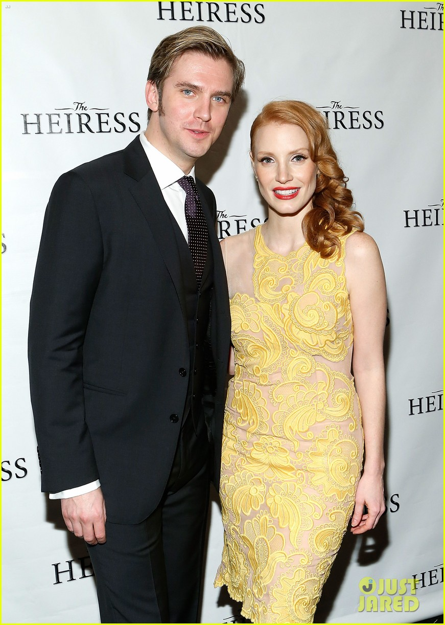 jessica chastain dan stevens heiress opening night 17