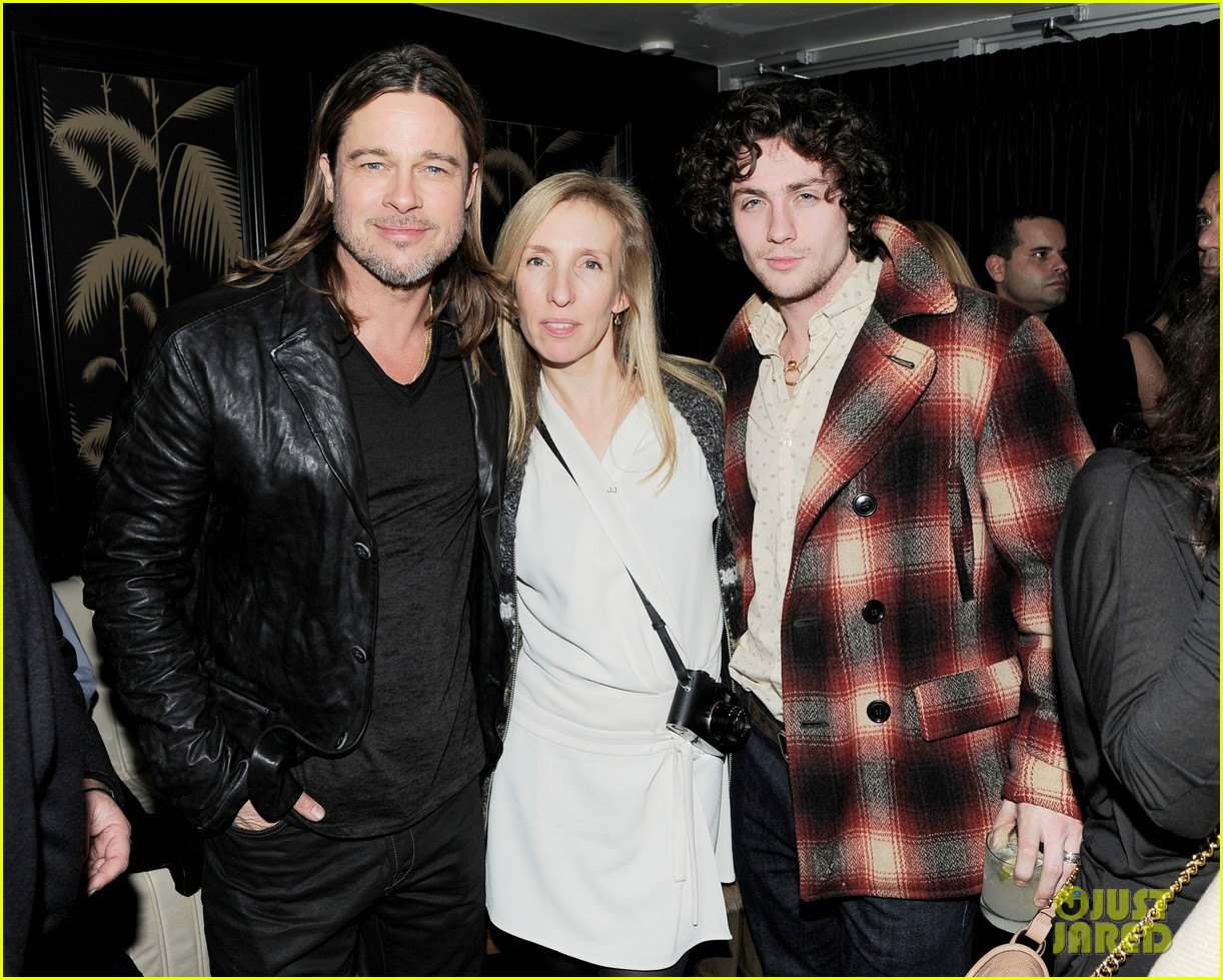 marion cotillard aaron taylor johnson killing them softly after party 05