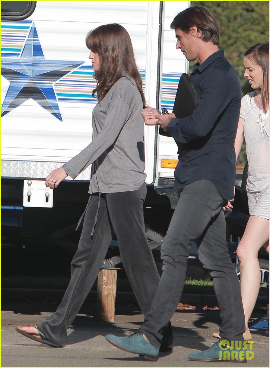 josh duhamel wears i voted sticker on youre not you set 18