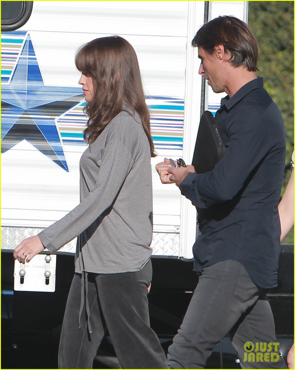 josh duhamel wears i voted sticker on youre not you set 19