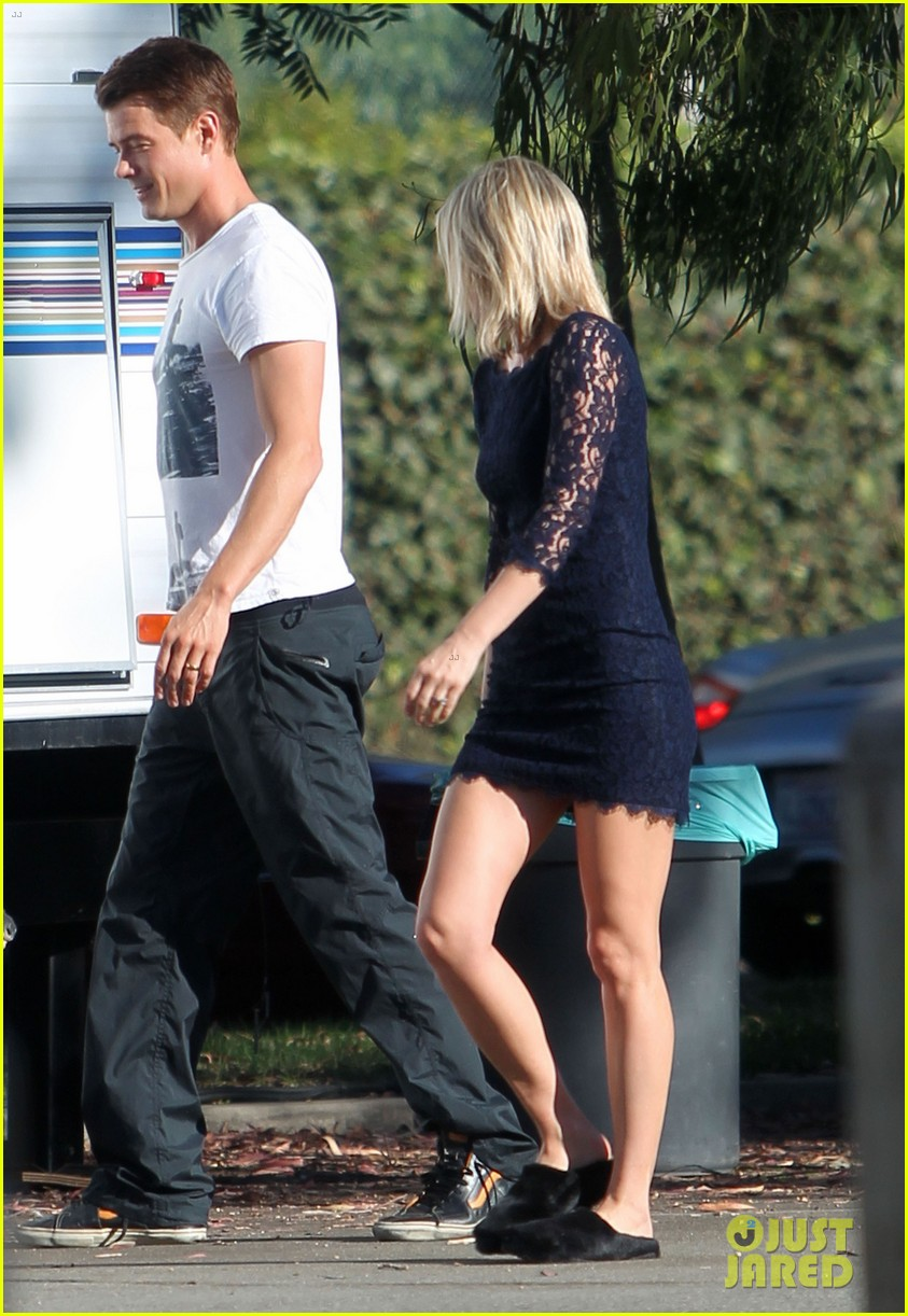 josh duhamel wears i voted sticker on youre not you set 26