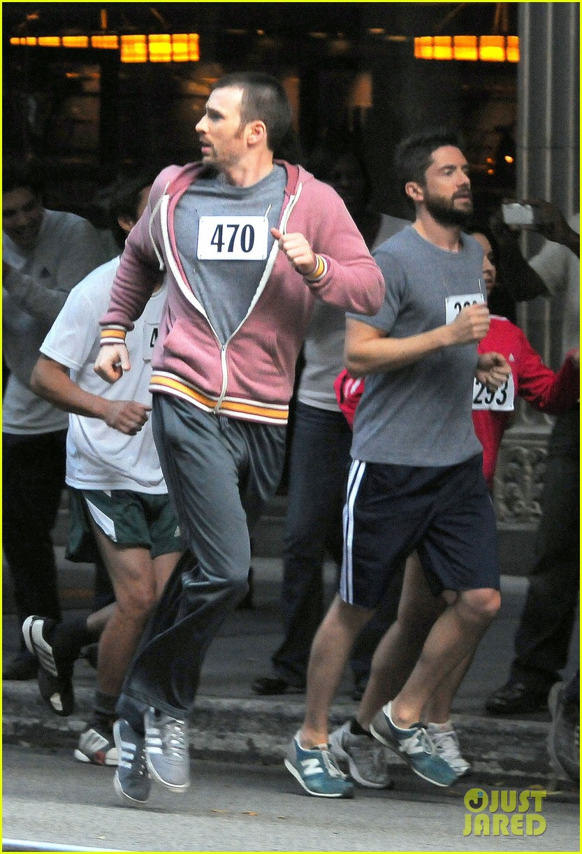 chris evans splintered thing marathon runner 05