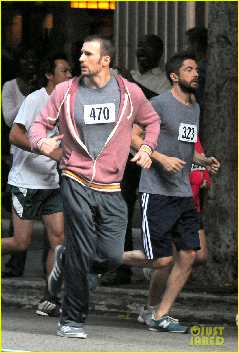 chris evans splintered thing marathon runner 15