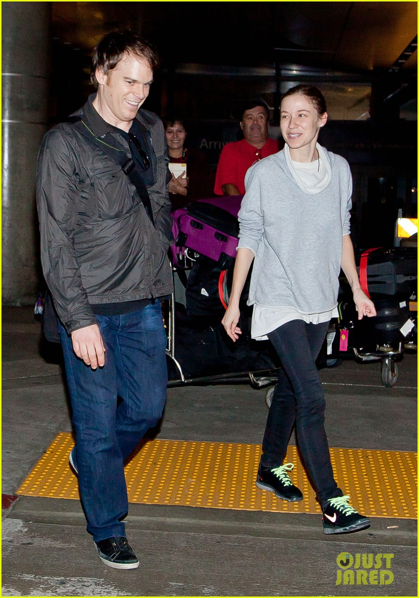 michael c hall morgan macgregor lax arrival 05