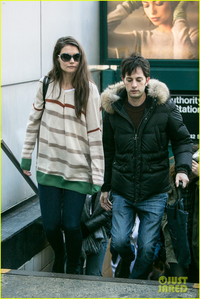 katie holmes commutes to work with male pal 04