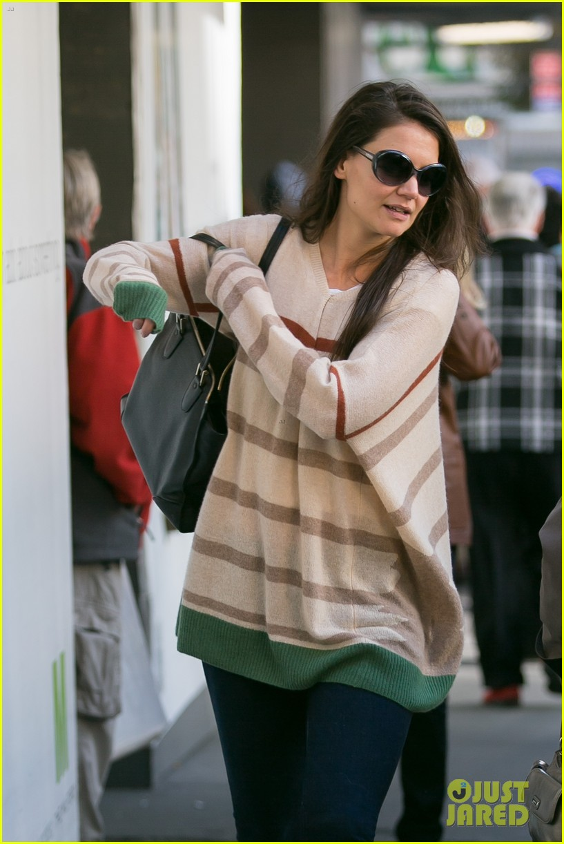 katie holmes commutes to work with male pal 26