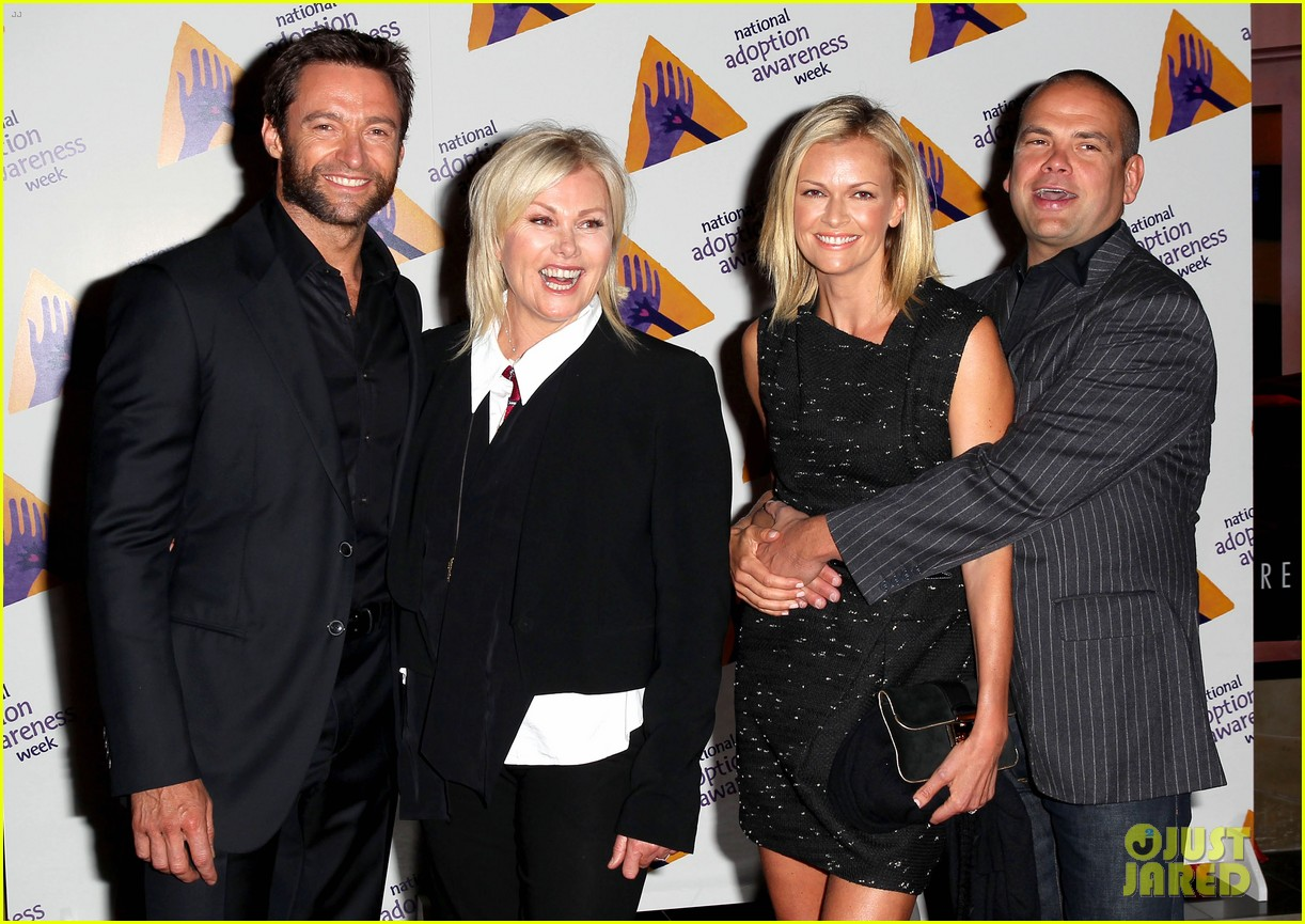 hugh jackman deborra lee furness adoption week event 04
