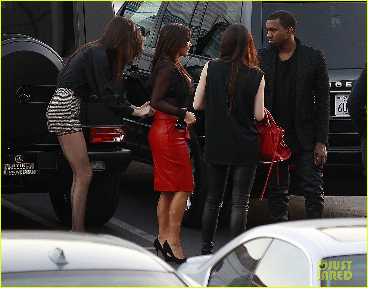 kim kardashian kanye west x factor dinner date 102762399