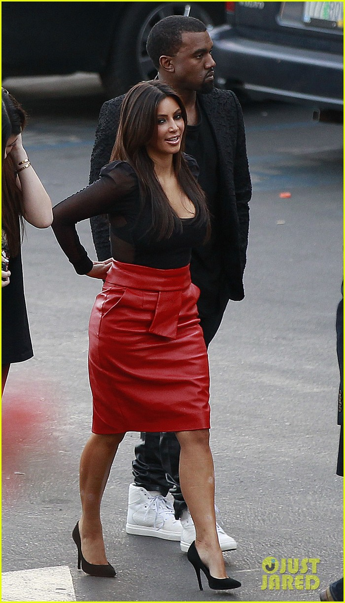 kim kardashian kanye west x factor dinner date 12