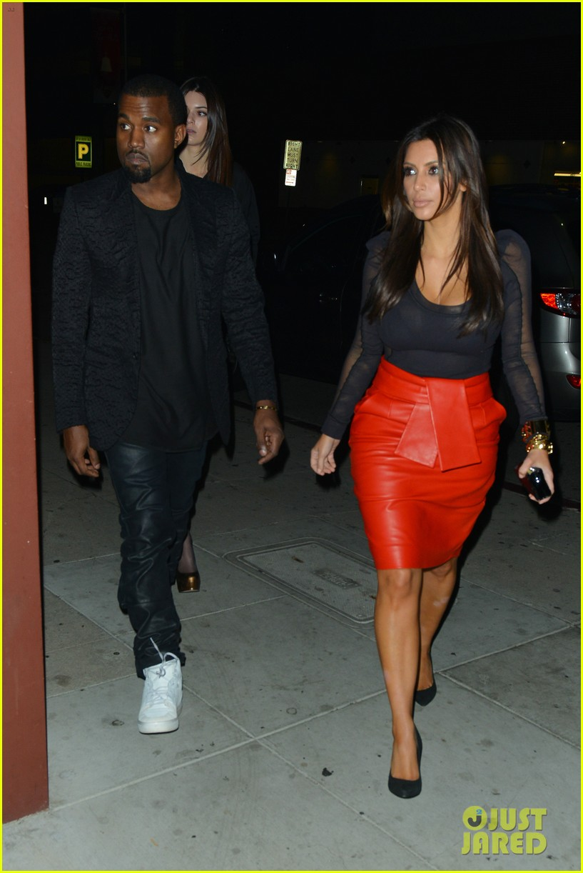 kim kardashian kanye west x factor dinner date 16