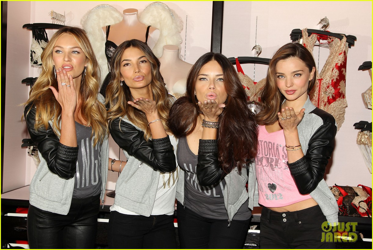 miranda kerr adriana lima victorias secret holiday hotties 342760809