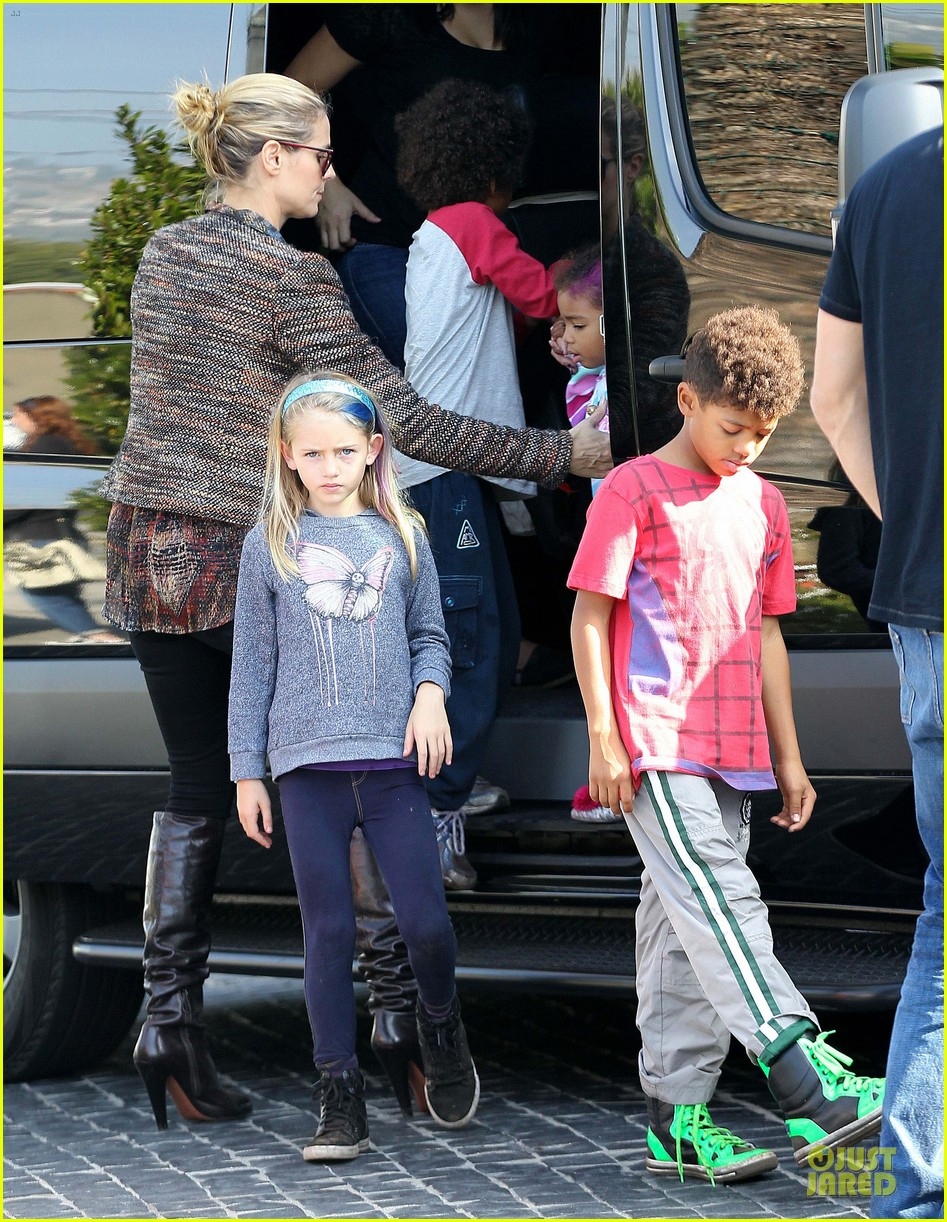 heidi klum lunch stop with the kids 18