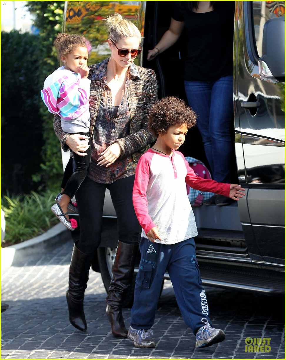 heidi klum lunch stop with the kids 19