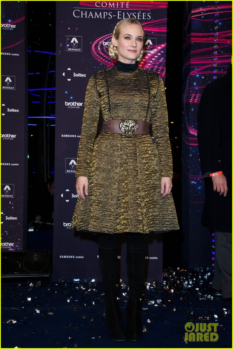 diane kruger champs elysees christmas lights launch 01